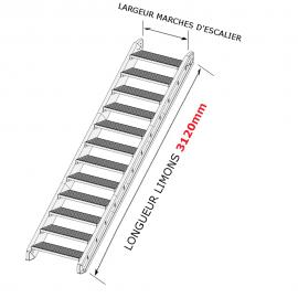 escaliers ext rieurs en kit acier galvanis. Black Bedroom Furniture Sets. Home Design Ideas