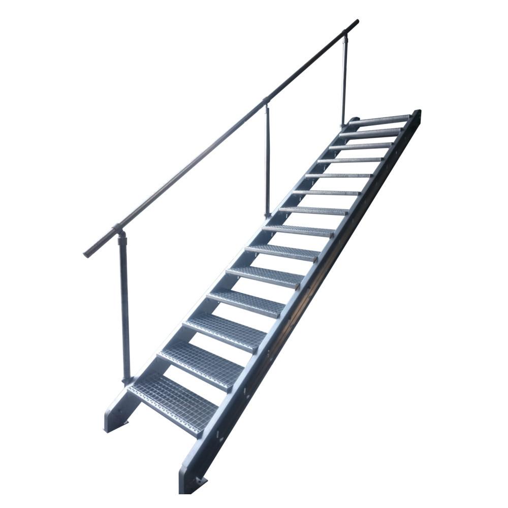 escalier galvanis en kit pour une hauteur de 1 5 2 7 m tres. Black Bedroom Furniture Sets. Home Design Ideas
