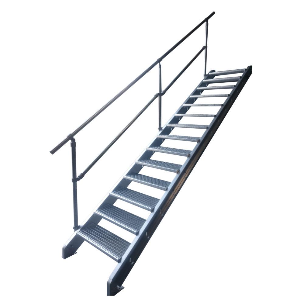 escalier galvanis en kit pour une hauteur de 0 5 0 9 m tres. Black Bedroom Furniture Sets. Home Design Ideas